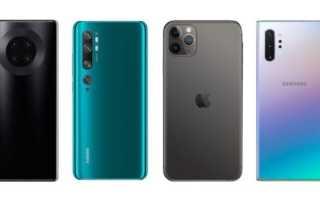 DxOMark рейтинг камер смартфонов 2019 (Октябрь).