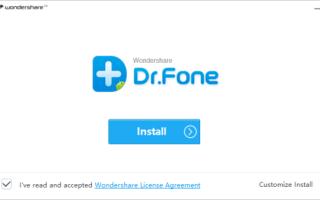 Скачать DR Fone for Android. Как пользоваться — инструкция